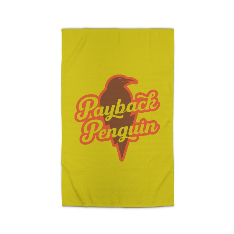 Bolt Penguin - Yellow Home Rug by Payback Penguin