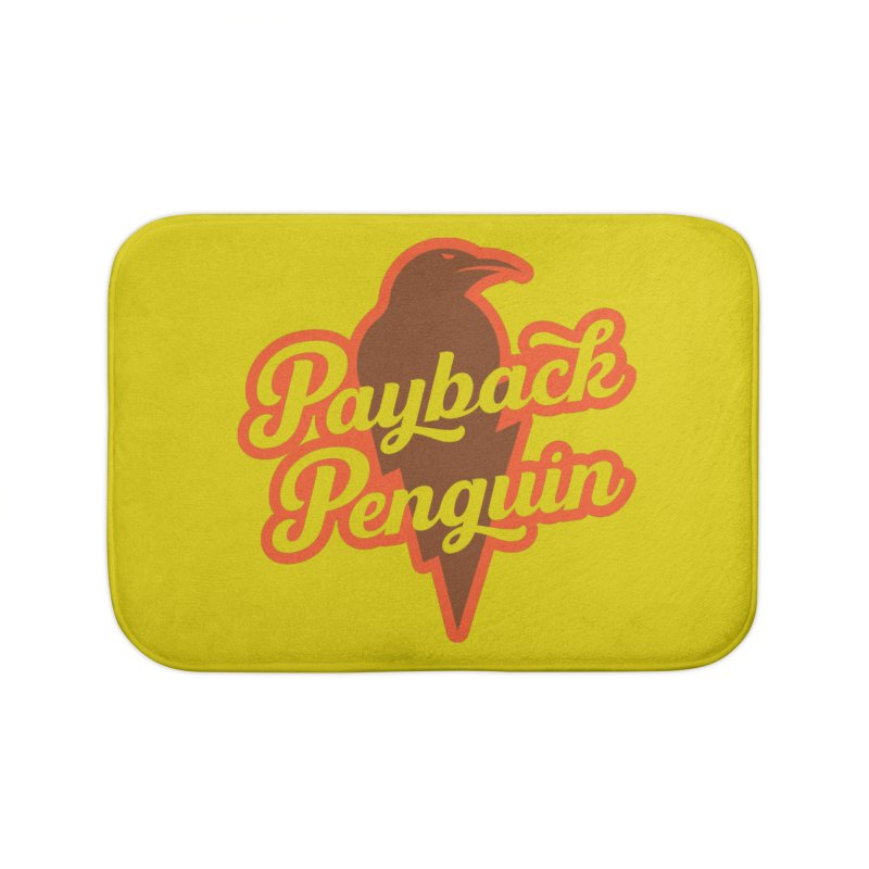 Bolt Penguin - Yellow Home Bath Mat by Payback Penguin