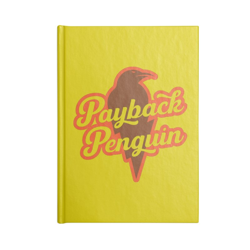 Bolt Penguin - Yellow Accessories Blank Journal Notebook by Payback Penguin