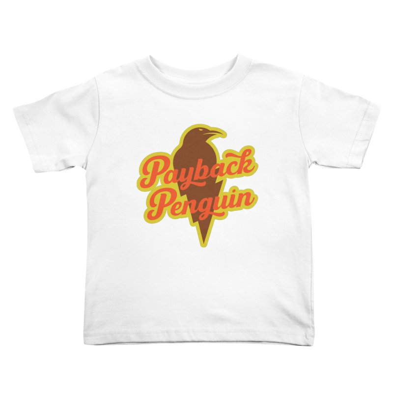 Bolt Penguin - Cream Kids Toddler T-Shirt by Payback Penguin