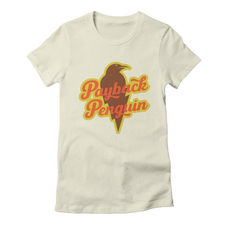Bolt Penguin - Cream Women's T-Shirt by Payback Penguin