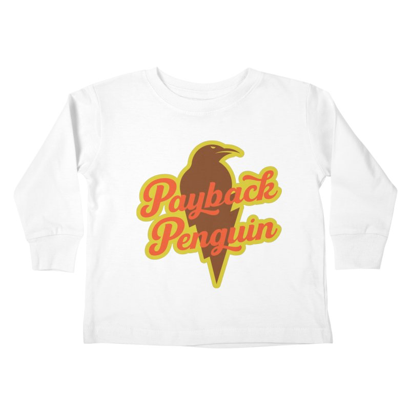 Bolt Penguin - Cream Kids Toddler Longsleeve T-Shirt by Payback Penguin