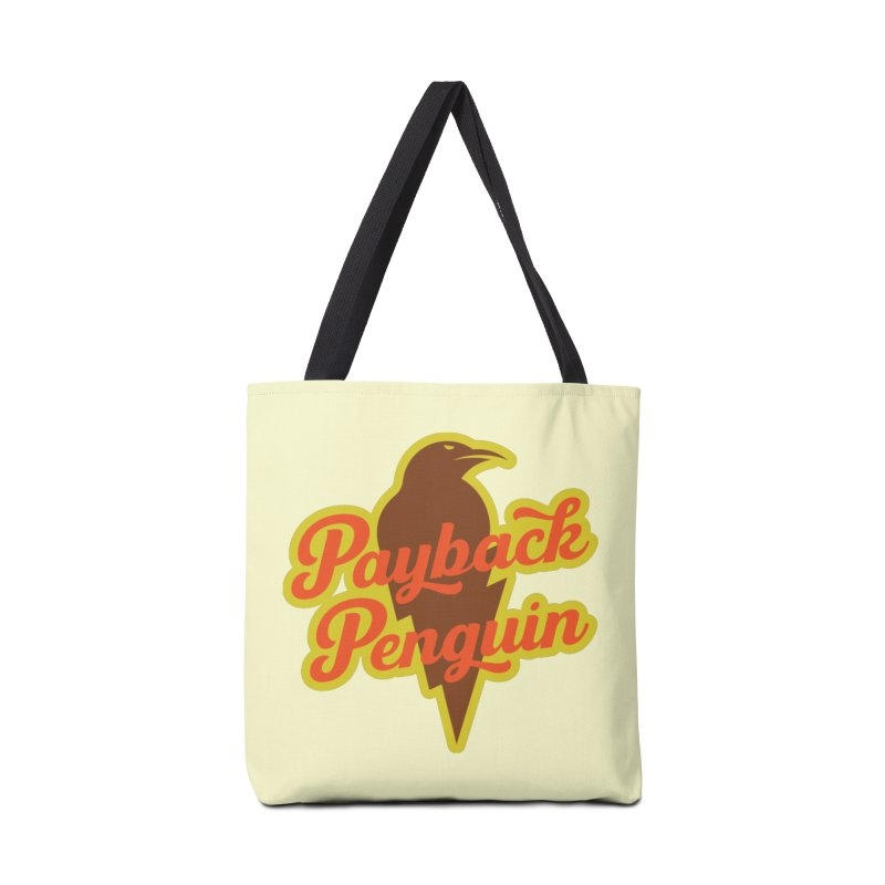 Bolt Penguin - Cream Accessories Bag by Payback Penguin