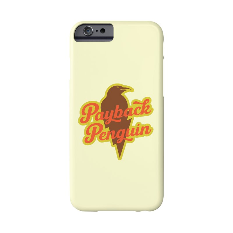 Bolt Penguin - Cream Accessories Phone Case by Payback Penguin