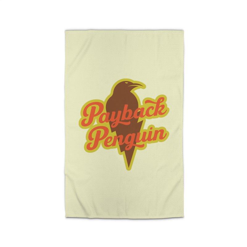 Bolt Penguin - Cream Home Rug by Payback Penguin