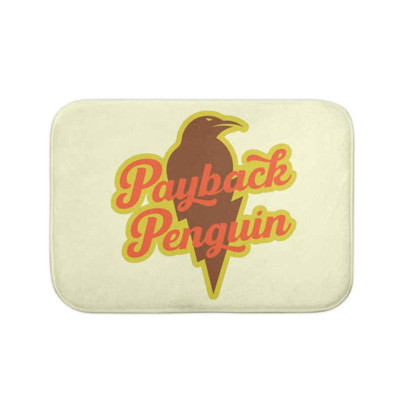 Bolt Penguin - Cream Home Bath Mat by Payback Penguin