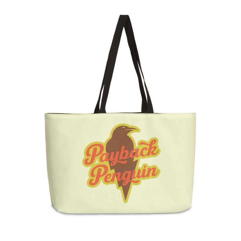 Bolt Penguin - Cream Accessories Weekender Bag Bag by Payback Penguin