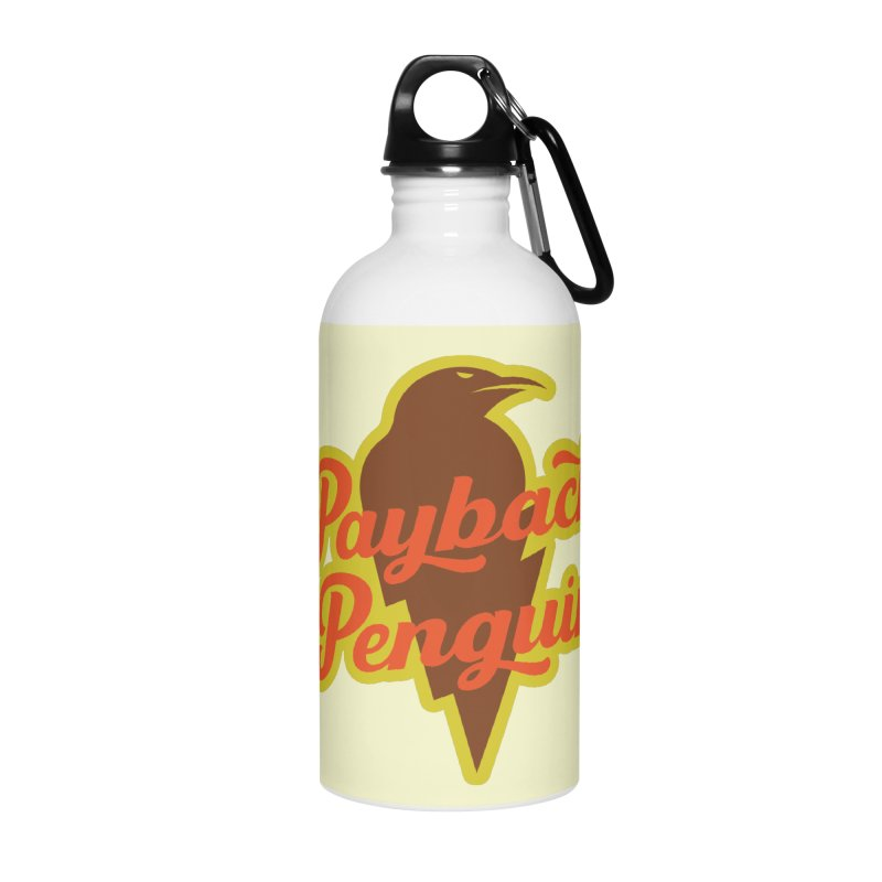 Bolt Penguin - Cream Accessories Water Bottle by Payback Penguin