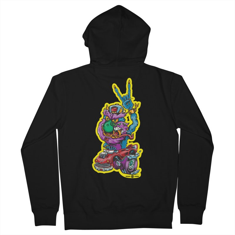 Rocking Monster Men's French Terry Zip-Up Hoody by Payback Penguin