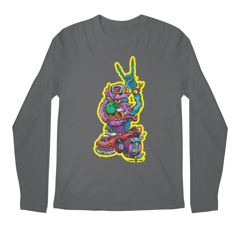 Rocking Monster Men's Longsleeve T-Shirt by Payback Penguin