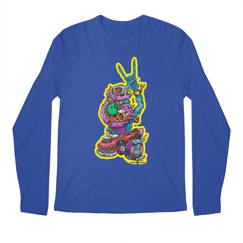 Rocking Monster Men's Regular Longsleeve T-Shirt by Payback Penguin