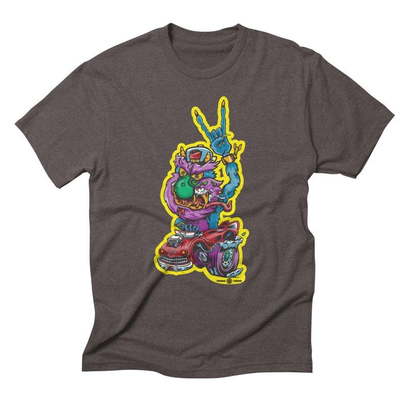 Rocking Monster Men's Triblend T-Shirt by Payback Penguin