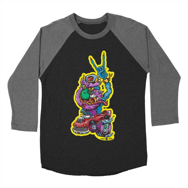Rocking Monster Women's Baseball Triblend Longsleeve T-Shirt by Payback Penguin