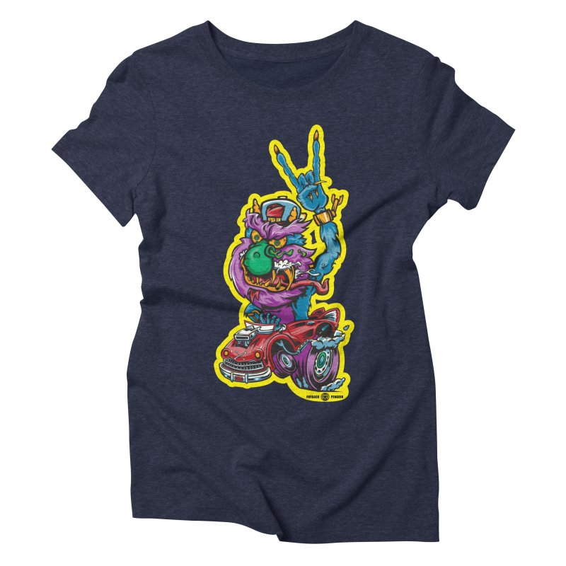 Rocking Monster Women's T-Shirt by Payback Penguin