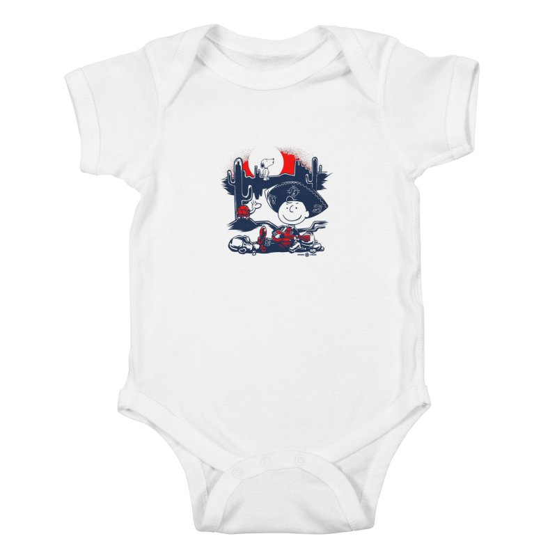Charlie Bottoms Kids Baby Bodysuit by Payback Penguin