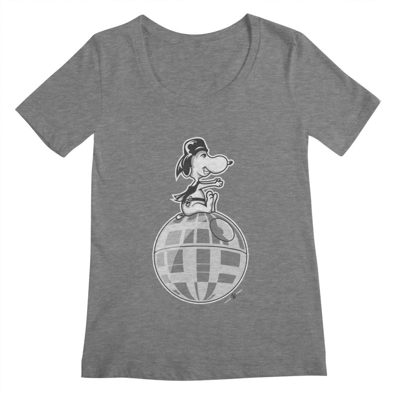 Snoopy Vader Women's Scoopneck by Payback Penguin
