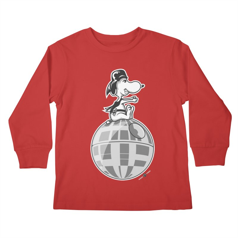 Snoopy Vader Kids Longsleeve T-Shirt by Payback Penguin