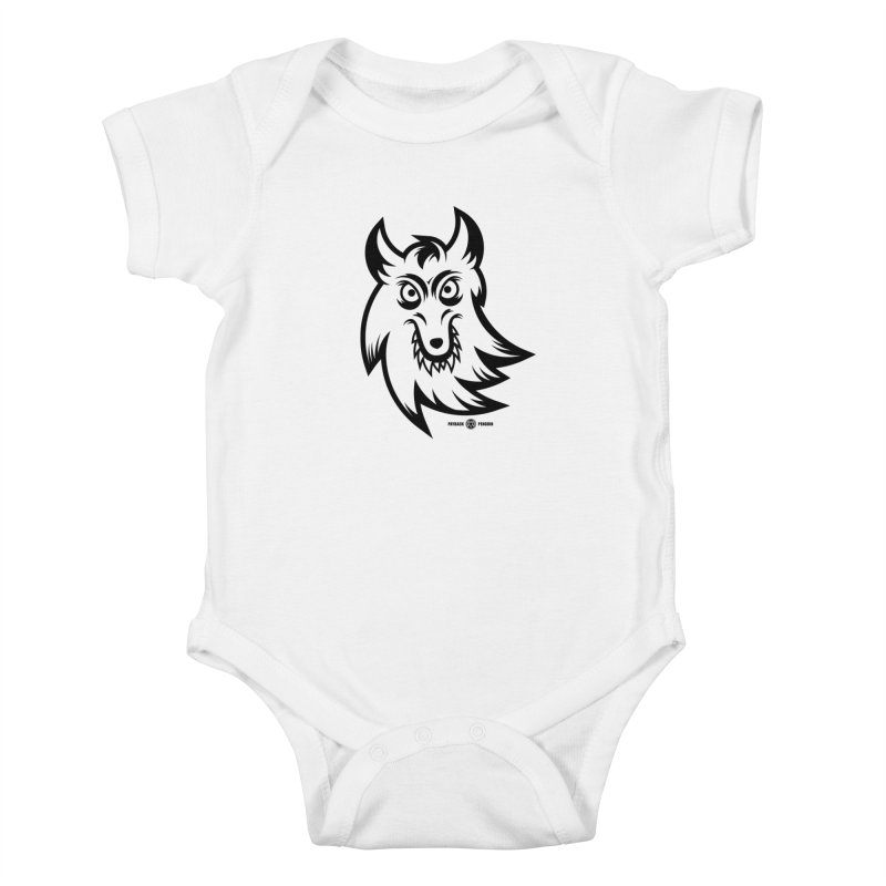 Lone Wolf Kids Baby Bodysuit by Payback Penguin