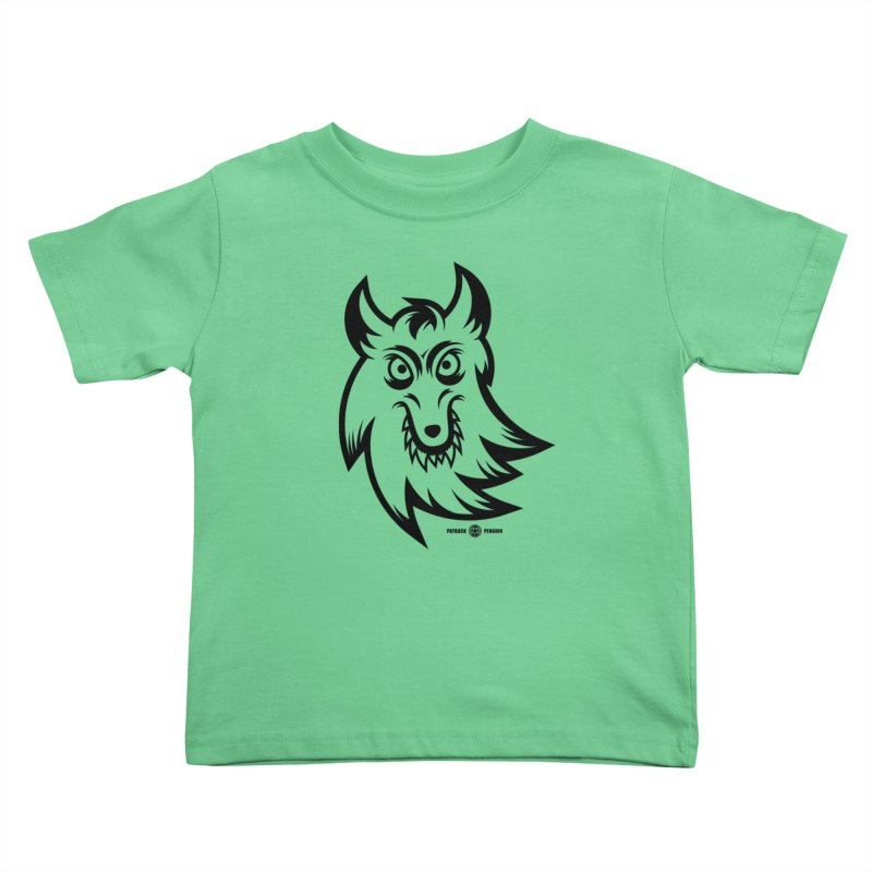 Lone Wolf Kids Toddler T-Shirt by Payback Penguin