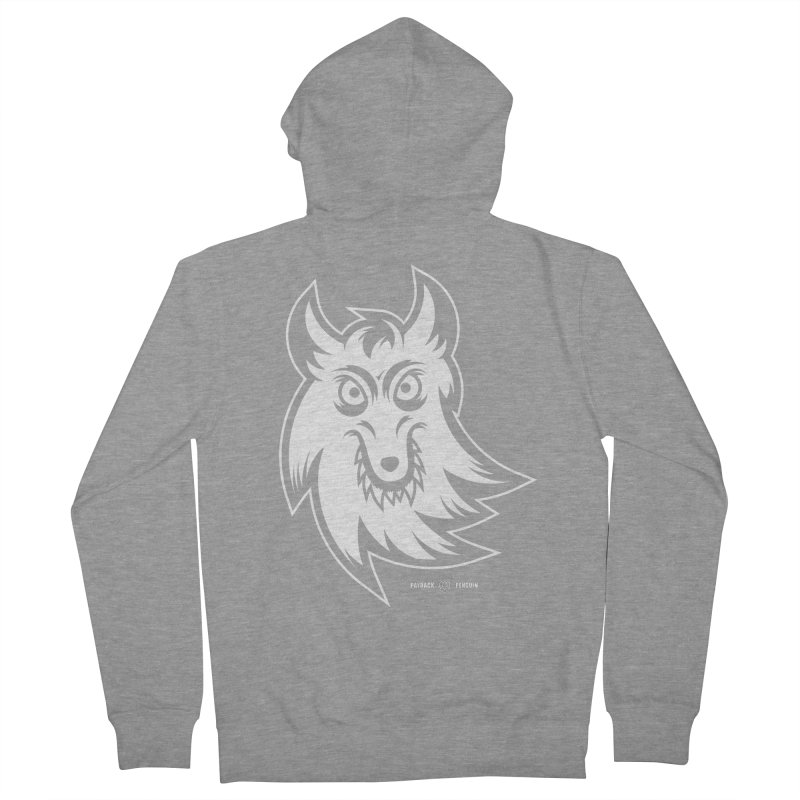 Lone Wolf Men's Zip-Up Hoody by Payback Penguin