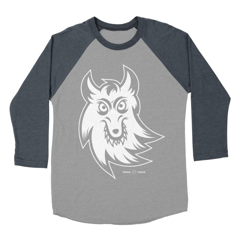 Lone Wolf Men's Baseball Triblend T-Shirt by Payback Penguin