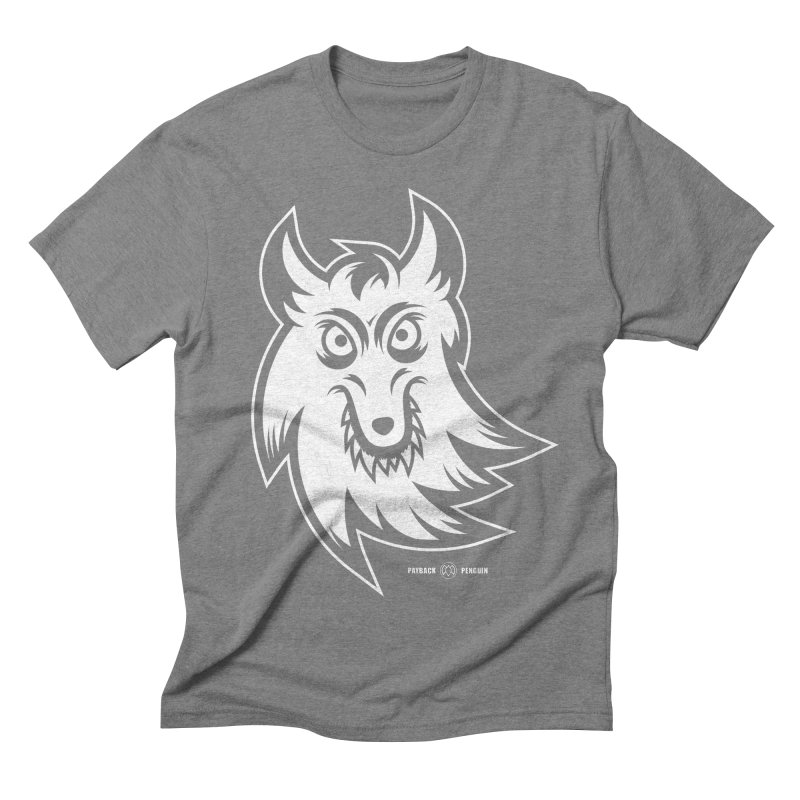 Lone Wolf Men's Triblend T-shirt by Payback Penguin