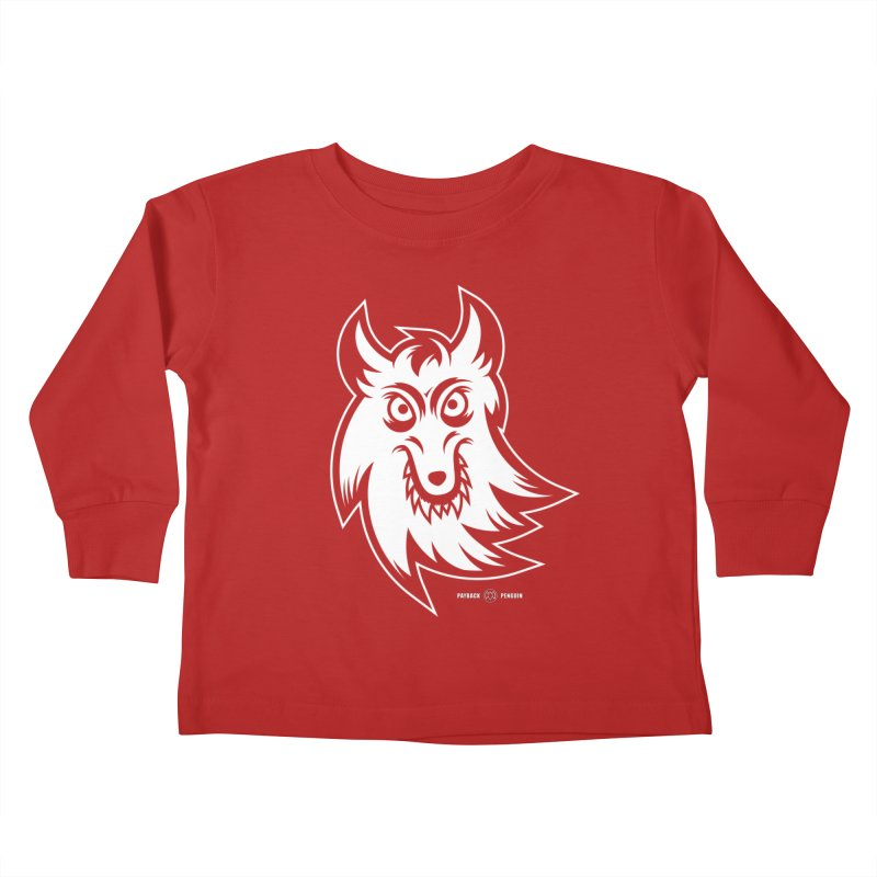 Lone Wolf Kids Toddler Longsleeve T-Shirt by Payback Penguin
