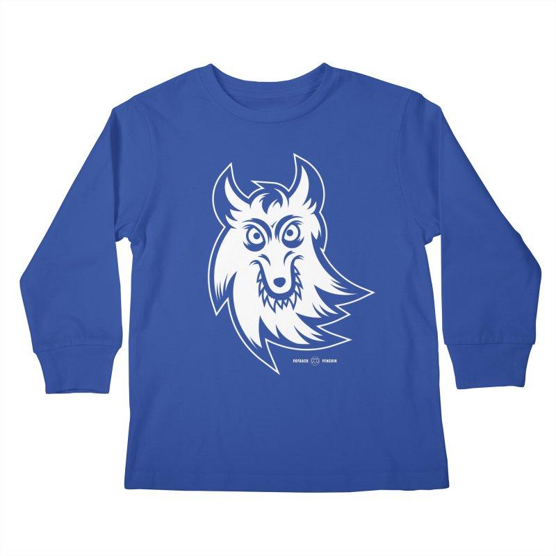 Lone Wolf Kids Longsleeve T-Shirt by Payback Penguin