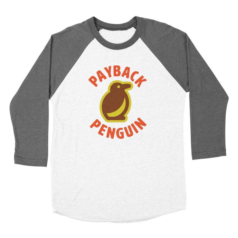 Payback Penguin Camp Tee Shirt Men's Baseball Triblend Longsleeve T-Shirt by Payback Penguin
