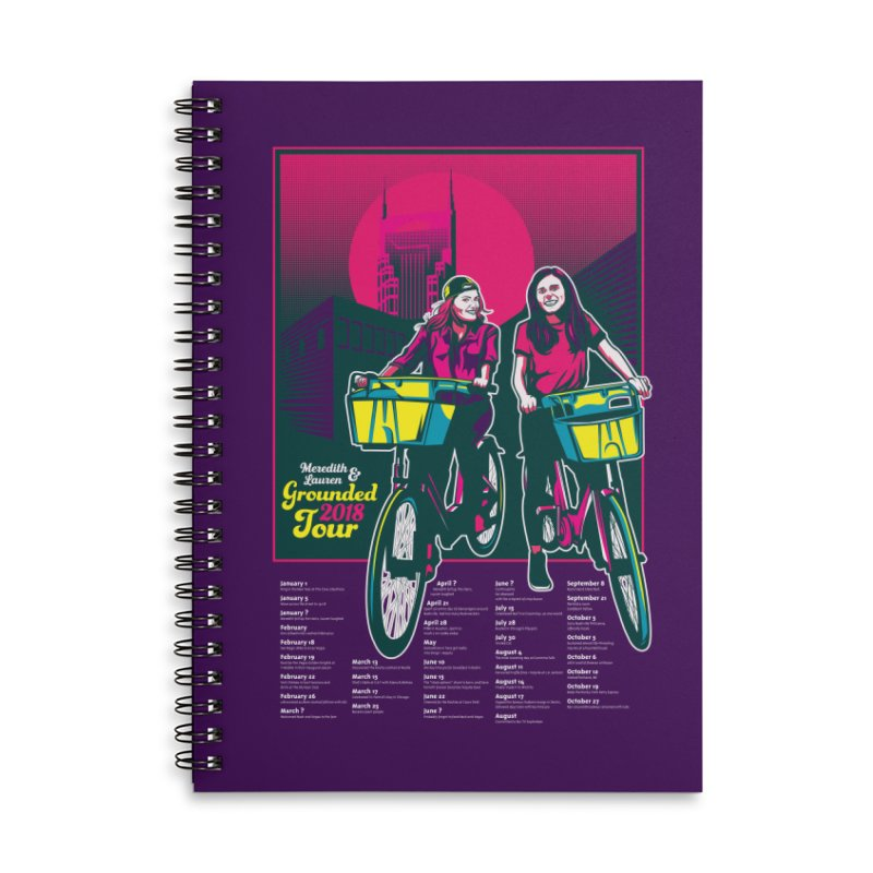 Meredith and Lauren Option 1 Accessories Lined Spiral Notebook by Payback Penguin