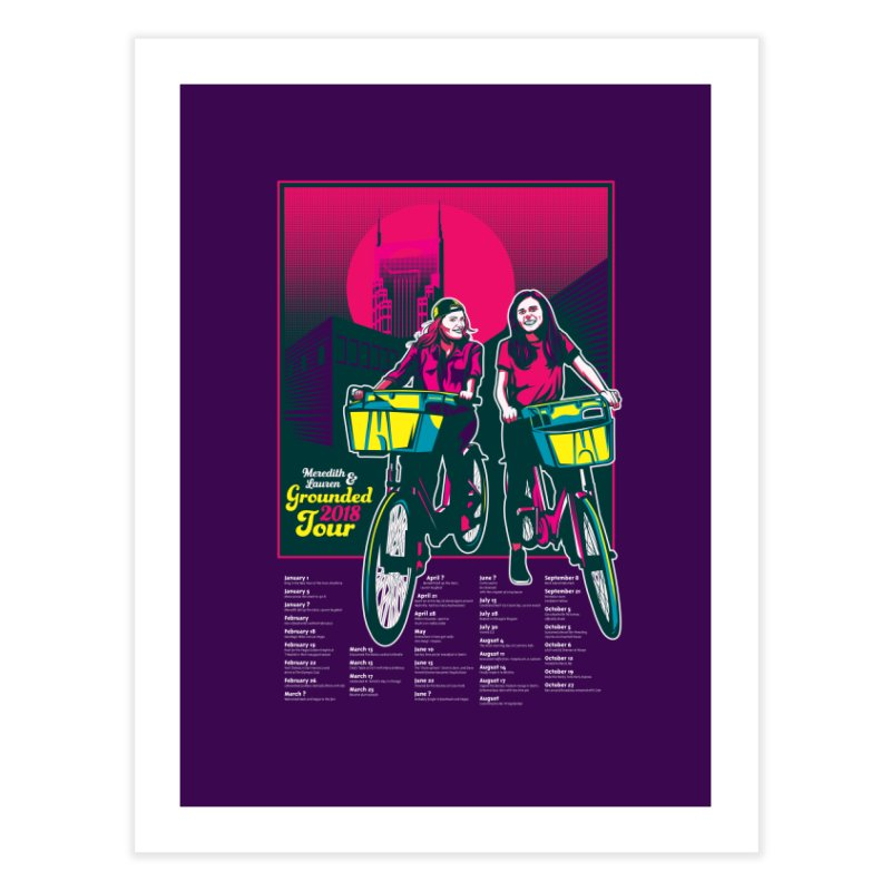 Meredith and Lauren Option 1 Home Fine Art Print by Payback Penguin
