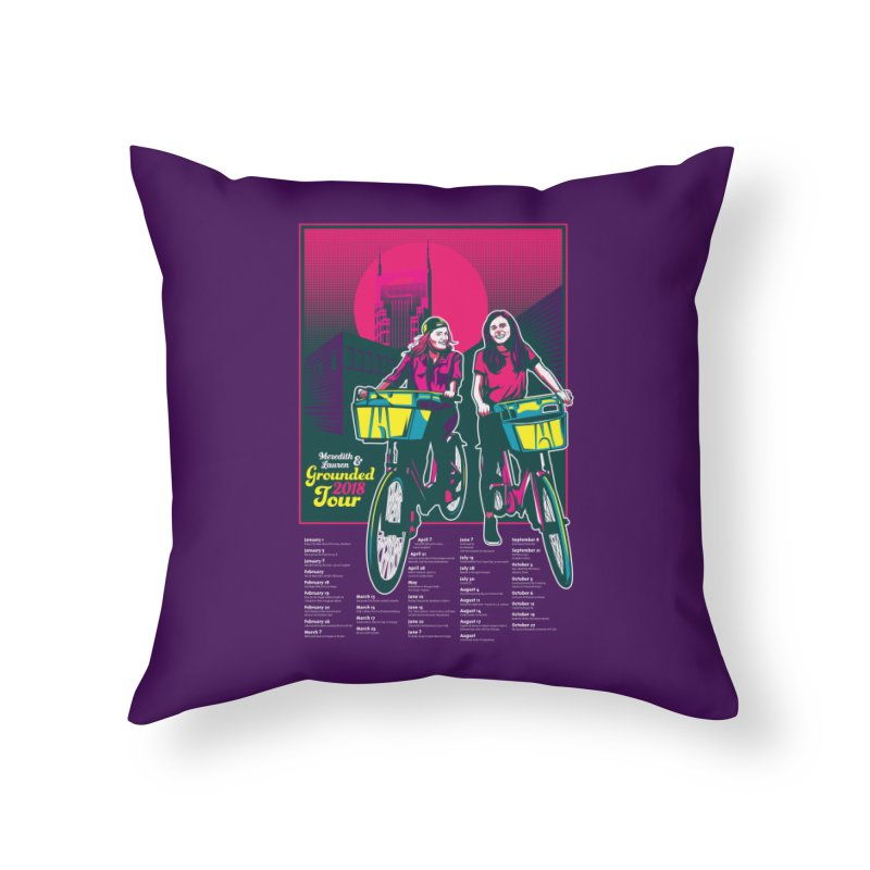 Meredith and Lauren Option 1 Home Throw Pillow by Payback Penguin
