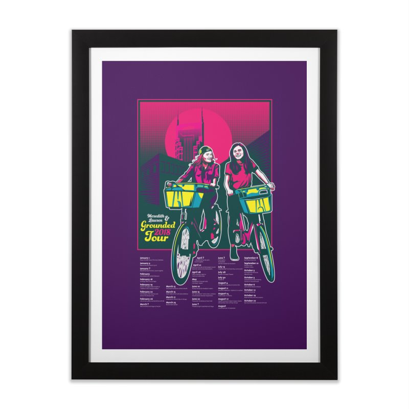 Meredith and Lauren Option 1 Home Framed Fine Art Print by Payback Penguin