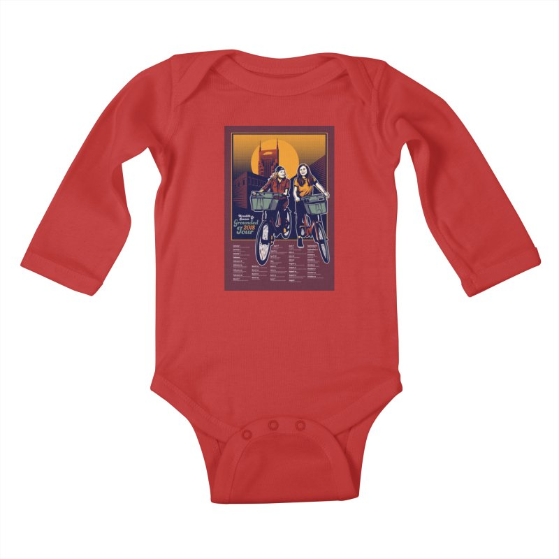 Meredith and Lauren Option 2 Kids Baby Longsleeve Bodysuit by Payback Penguin