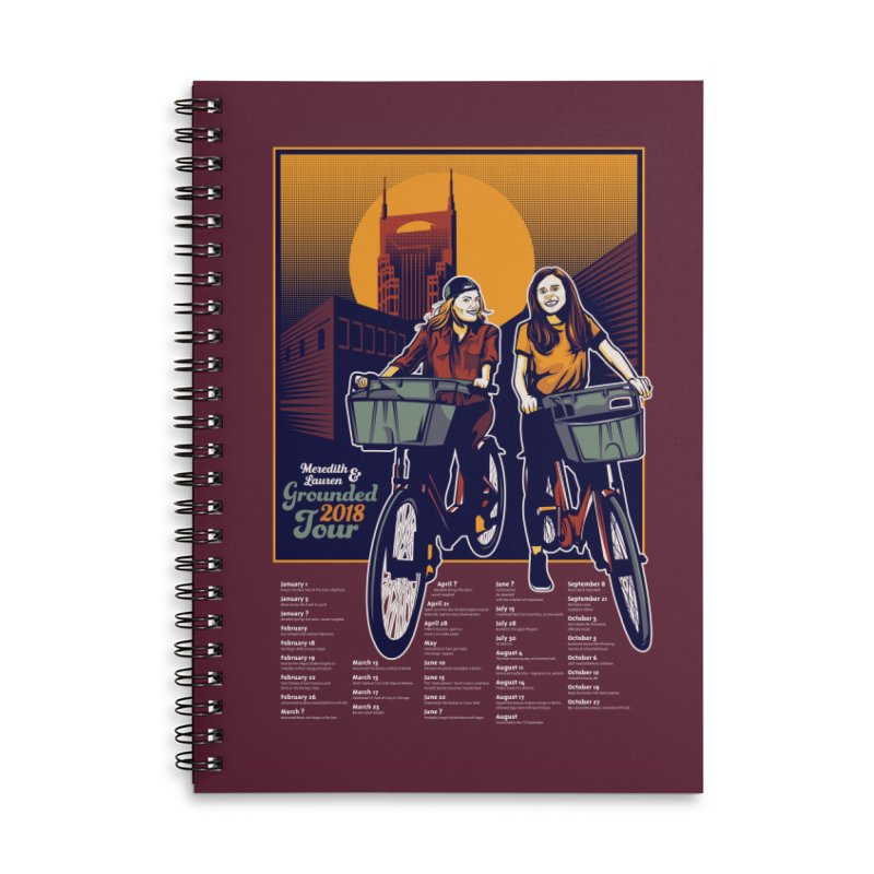 Meredith and Lauren Option 2 Accessories Lined Spiral Notebook by Payback Penguin