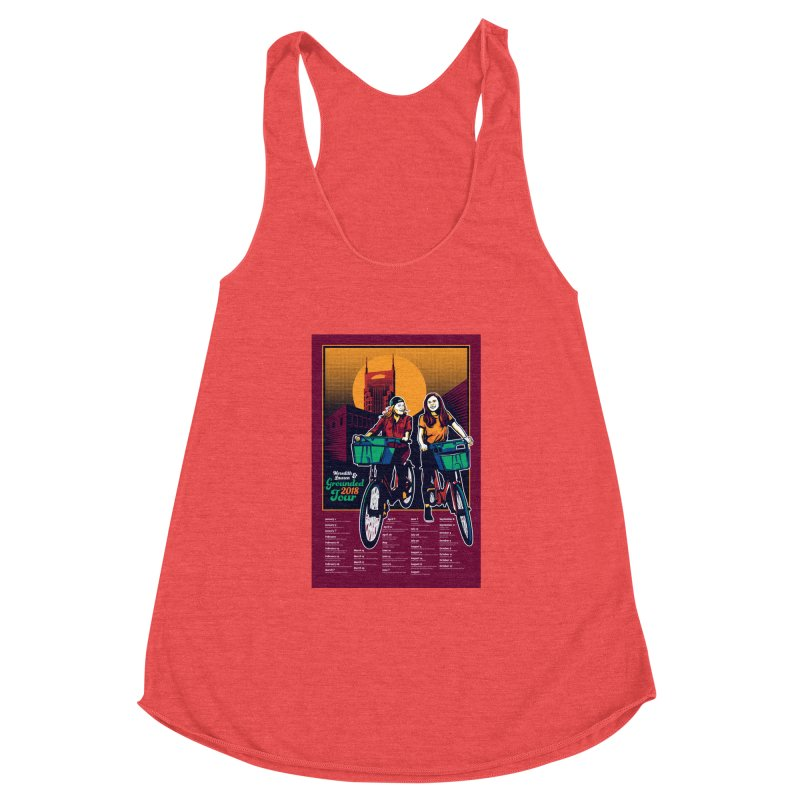 Meredith and Lauren - Option 3 Women's Racerback Triblend Tank by Payback Penguin