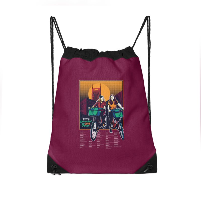 Meredith and Lauren - Option 3 Accessories Drawstring Bag Bag by Payback Penguin