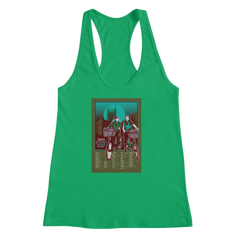 Meredith and Lauren - Option 5 Women's Racerback Tank by Payback Penguin