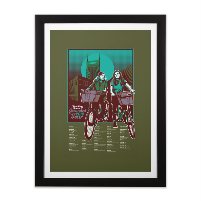 Meredith and Lauren - Option 5 Home Framed Fine Art Print by Payback Penguin