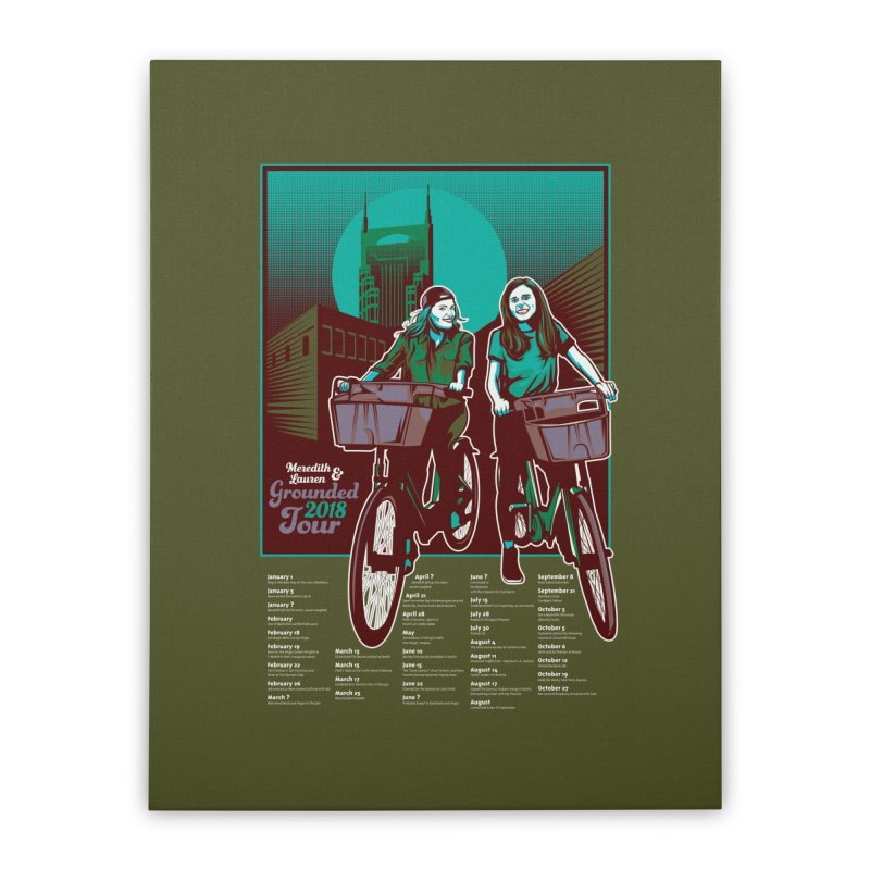 Meredith and Lauren - Option 5 Home Stretched Canvas by Payback Penguin