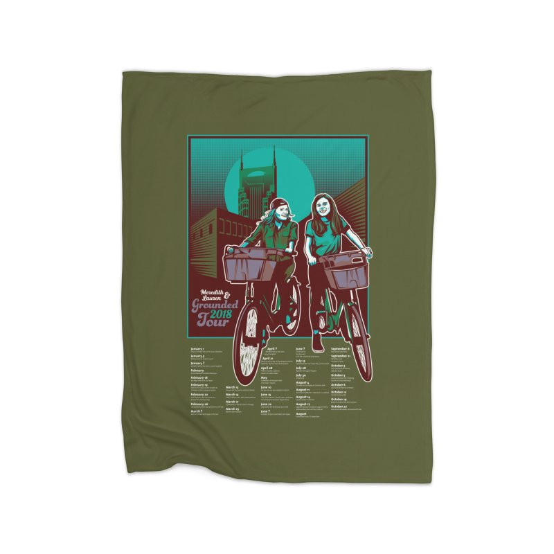 Meredith and Lauren - Option 5 Home Fleece Blanket Blanket by Payback Penguin