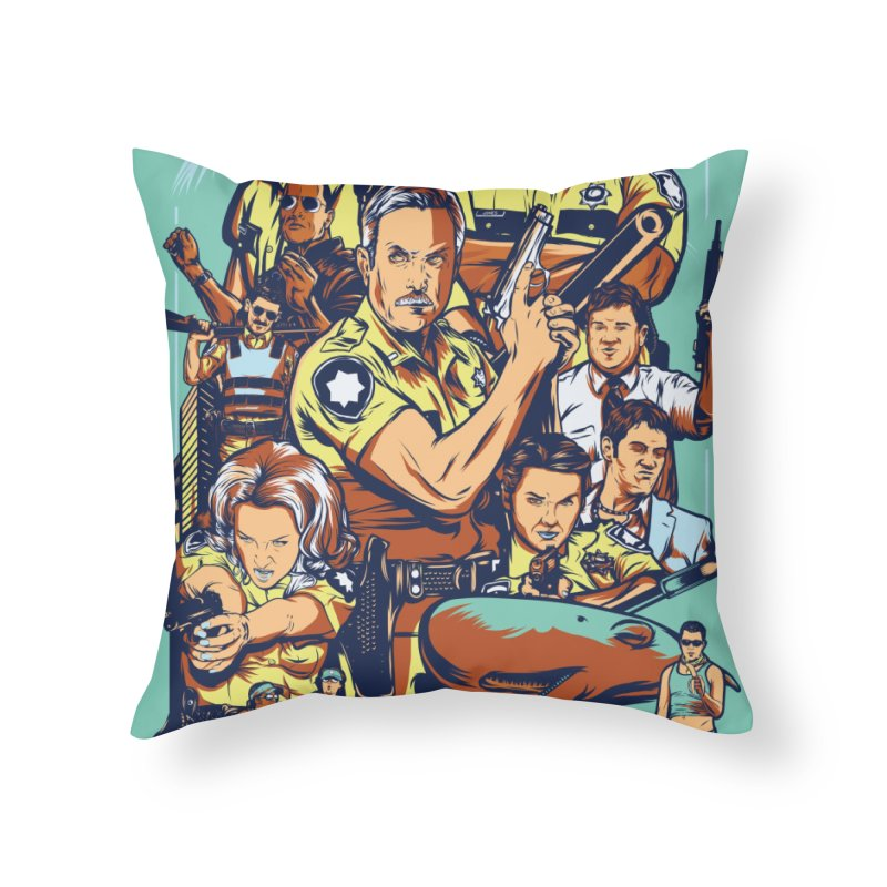 They Have Badges! Home Throw Pillow by Payback Penguin