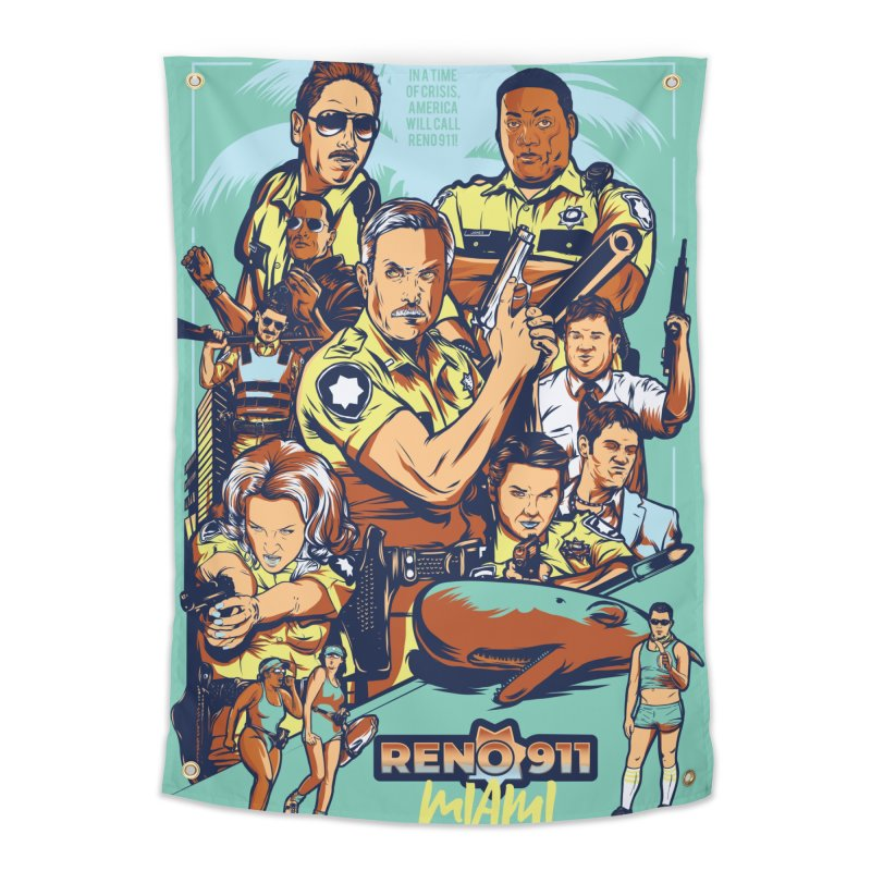 They Have Badges! Home Tapestry by Payback Penguin