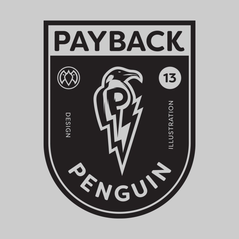 Payback Penguin Shocker Shield Men's T-Shirt by Payback Penguin