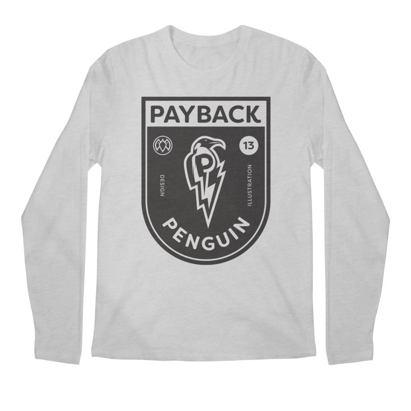 Payback Penguin Shocker Shield Men's Longsleeve T-Shirt by Payback Penguin