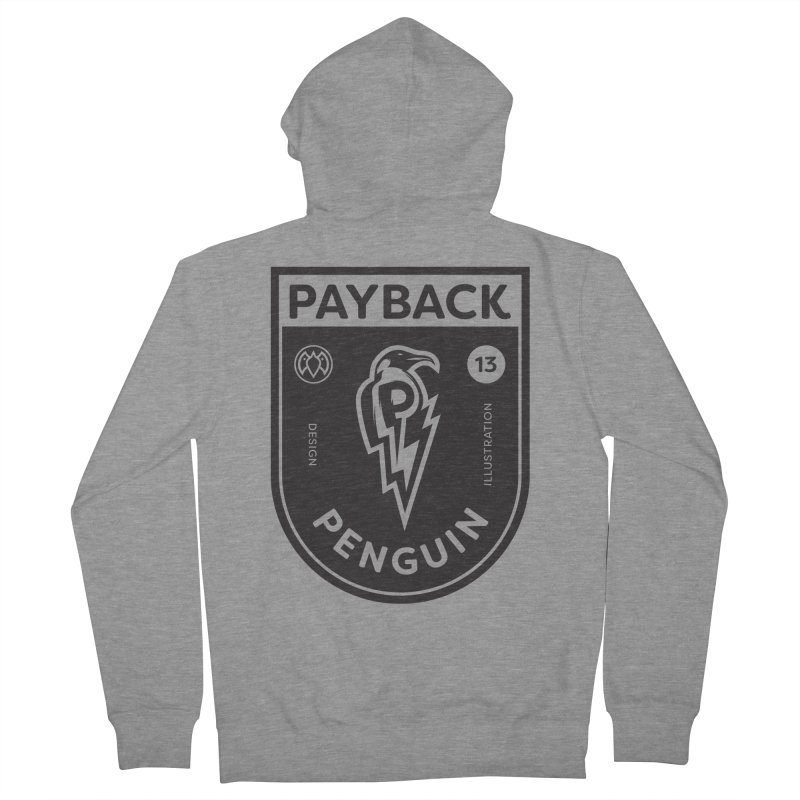 Payback Penguin Shocker Shield Men's Zip-Up Hoody by Payback Penguin