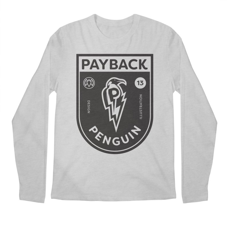 Payback Penguin Shocker Shield Men's Regular Longsleeve T-Shirt by Payback Penguin