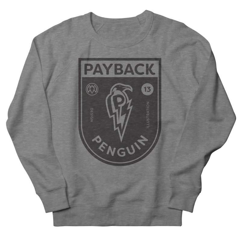 Payback Penguin Shocker Shield Men's French Terry Sweatshirt by Payback Penguin