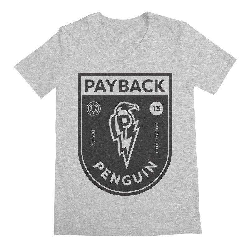 Payback Penguin Shocker Shield Men's Regular V-Neck by Payback Penguin