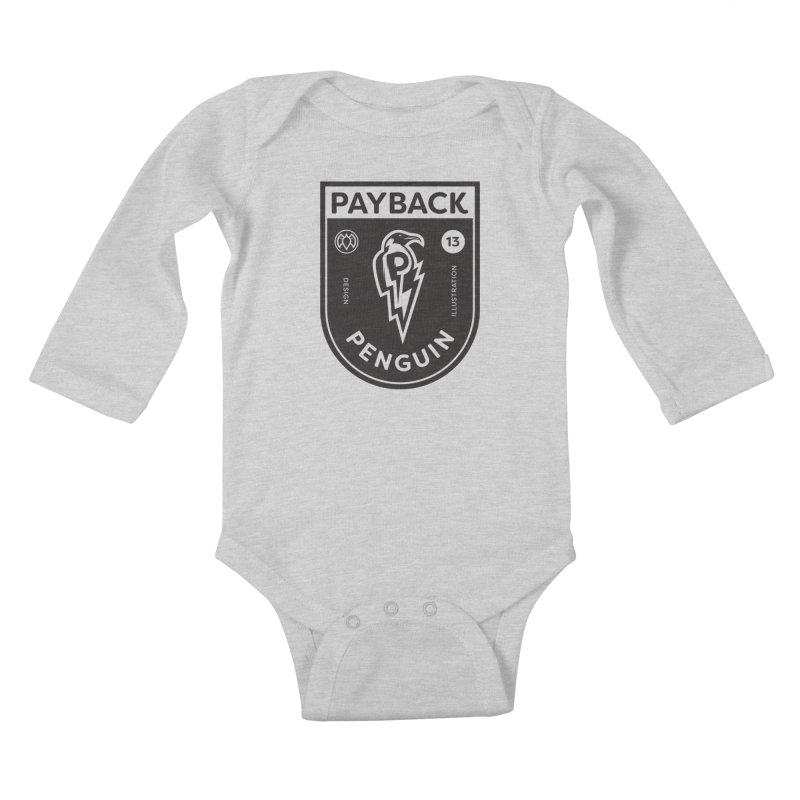 Payback Penguin Shocker Shield Kids Baby Longsleeve Bodysuit by Payback Penguin
